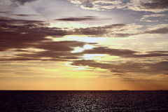 Sun está indo para baixo Imagem de Stock Royalty Free