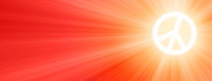 Sun est brillant comme connexion de paix que le ciel avec Sun rayonne au coucher du soleil Photographie stock libre de droits