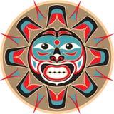 Sun - estilo del nativo americano Foto de archivo libre de regalías