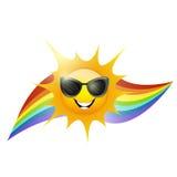 Sun et arc-en-ciel Image libre de droits