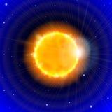 Sun et espace Images libres de droits