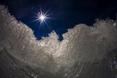 Sun et glace Photos libres de droits