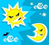 Sun et lune Image libre de droits