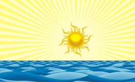Sun et mer illustration stock