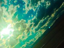 Sun et nuage Image libre de droits