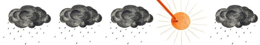 Sun et nuage noir Photo libre de droits