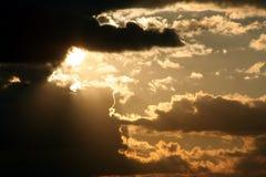 Sun et nuages Photo stock