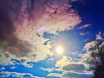Sun et nuages image libre de droits