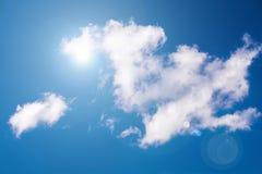The Sun et nuages Photo libre de droits