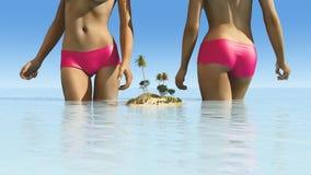 Sun et plage Images libres de droits