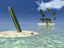 Sun et plage Photo libre de droits