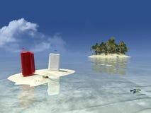 Sun et plage Image libre de droits