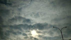 Sun at evening. royalty free stock photo