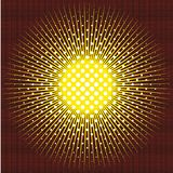 The sun executed in technics of a halftone on black background Royalty Free Stock Photography