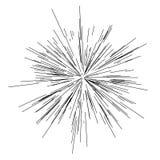 Sun-Explosion, Sternexplosionssonnenschein Von der Mitte von dünnen Strahlen ausstrahlen, Linien Dynamische Art Abstrakte Explosi Lizenzfreie Stockfotografie