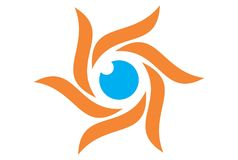 Sun eye logo. Dsign vector dsign abstract vector dsign concept Stock Illustration