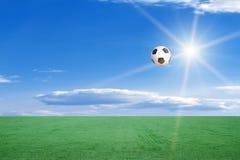 sun för fotboll för bollfält royaltyfri illustrationer