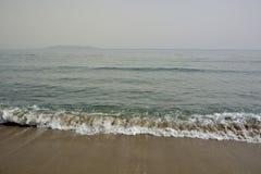 sun för hav för bakgrundsfiordsstråle Arkivfoton