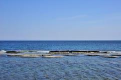 sun för hav för bakgrundsfiordsstråle Royaltyfri Fotografi