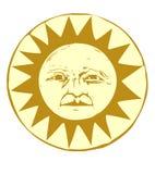 Sun Face #1 Royalty Free Stock Photos