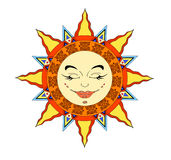 Sun face Stock Photos