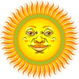 Sun Face. This is an image of a bright and shining sun face Royalty Free Stock Photos