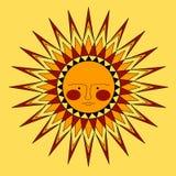 Sun-face Stock Image