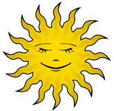 Sun face Royalty Free Stock Photos