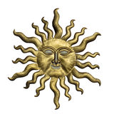 Sun Face with clipping path. Isolated on white background. Stock Image