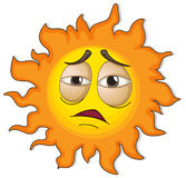 A sun with a face Royalty Free Stock Photography