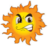 A sun with a face Stock Photography