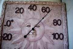 Sun face thermometer Stock Photo