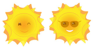Sun faces Royalty Free Stock Photography