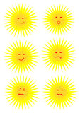 Sun faces. Royalty Free Stock Photo