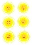 Sun fait face. illustration libre de droits