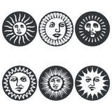 Sun fait face Illustration de vecteur Images stock