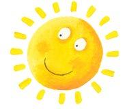 Sun feliz Imagens de Stock Royalty Free