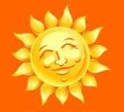 Sun feliz enfrenta Fotografia de Stock