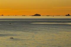 Sun fijó en el estrecho de Gerlache imagen de archivo