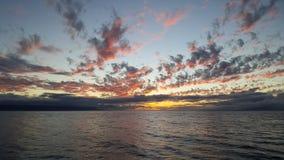 Sun fijó en el Océano Pacífico Fotos de archivo libres de regalías