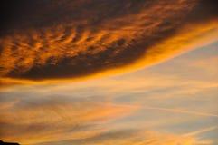 Sun fijó en Noruega Fotografía de archivo libre de regalías