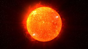 Sun on Fire (HD Animation Loop) Royalty Free Stock Photography