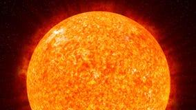 Sun on Fire (HD Animation Loop) Stock Photography