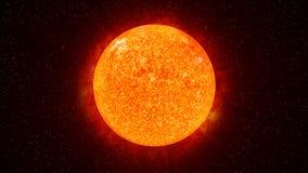 Sun on Fire (HD Animation Loop) Stock Image