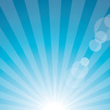 Sun flare blue Royalty Free Stock Photography