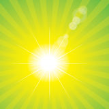 Sun flare green Royalty Free Stock Photo