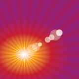Sun flare red Royalty Free Stock Photography