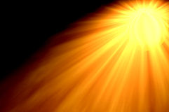 Sun Flare from Right top Stock Photo