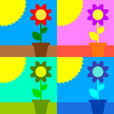 Sun and flower Stock Images