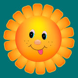 Sun Flower cartoon Stock Image